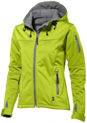 SLAZENGER MATCH LADIES SOFTSHELL JACKET zelená S